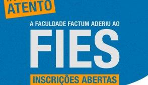 Faculdade Factum aderiu ao FIES