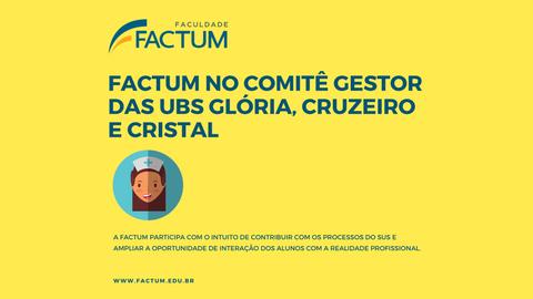 Factum no Comitê Gestor UBSs Glória, Cruzeiro e Cristal