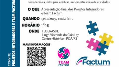 Apresentação dos PIs e Team Factum